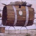 """""""Пиво добро, да мало ведро"""" 1998 г. х.м. 70x85"""