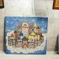 """Выставка """"Загородняя и ученики"""" 25 сентября. Мозаичное панно."""