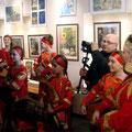 Посещение и.о. губернатора Московской области А.Воробьёвым Красногорской картинной галереи 16 марта 2013г.