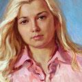 """Выставка Виктории Саввиновой """"Автопортрет"""" х,м 2007г."""