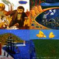 """Одна из """"митьковский"""" картин, написанных 4-мя художниками."""