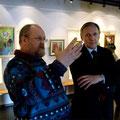 На выставке Елены Обуховой. Февраль-март 2011г.