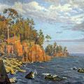 """Выставка Виктории Саввиновой """"Северные берега"""" х,м"""