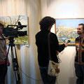 Открытие выставки Валерия Морозова (живопись) и Антона Солныкова (куклы) май 2010г.
