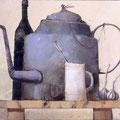 """Чайник и муха"" 1997 г. х.м. 50x60"