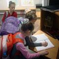 Отзыв учащихся 1Б класса 1-й школы по выставке Ирины Дудиной