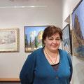 Живописец Мария Переяславец на своей персональной выставке
