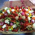 Corbeille de légumes cru et ses sauces JAUDYS traiteur