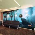 Graffiti Malerei im Innenraum der Vip Lounge vom ! Fc Union Berlin