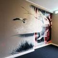 Zahnarzt Technik Filalie verschönert, mittels der Graffiti Kunst