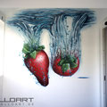 Werbung mit Hilfe von Wandmalerei und Graffiti in Landkreis gestaltet