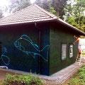 Airbrsh auf der Fassadenwand künstlerisch gestaltet durch Graffitikünstler in Berlin und Brandenburg