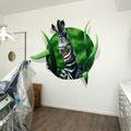 Zahnarzt Innendesign auf Wand Praxis Raum Zebra Elefand
