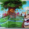 Kinderzimmer Graffiti getaltet in Erfurt mit Graffitikünstler