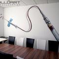 Praxisbemalung und Konferenzraumgestaltung in Neuenhagen mit Airbrush aus der Luftpistole