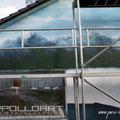 Grundierung für Fassade angebracht mit Farben der Firma STO