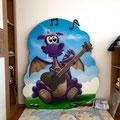 3d effekte gemalerte Bilder auf die eigene Wand im Kids Zimmer