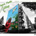 Immobilien Hauswand bekommt ein Fassadenbild aus der kreativ Schmiede Appolloart
