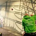 Wand und Deckenmalerei in 3d Graffiti