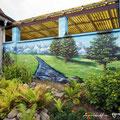 Fassadengestaltung mit Graffitikünstler durch Graffitiauftrag gestaltet