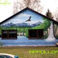 Eigenheim bemalt mit Graffitifarbe Graffitikunst Art