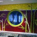 Wellness im Hotel Graffitigestaltung Illusionsmalerei