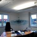 Geschäftsführer Geschäftsführerbüro grafisch gestaltet Innenraum Design