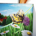 Tierbild mit der Airbrush-Pistole gemalt auch für Innenraumgestaltung geeignet