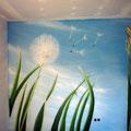 Kinderzimmer Schlafbereich Innenraumgestaltung mit Airbrush