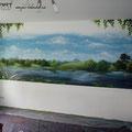 Grippewelle war gestern, Wartebereich mit Wandmalerei ist heute