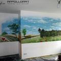Wartezimmer für Kinderärztin mit Wandbild verschönert in Bad Freienwalde