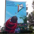 Graffitibild verschönert Stadtbild