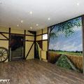 Wanderwege im Wohnzimmer als Illusionmalerei auch für schöner Wohnen der eigenen Lebensräume  gemalt