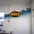 Getränkeindustrie Graffiti auf der Wand