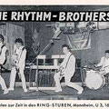THE RHYTHM-BROTHERS Met OETY JOHANNES (2e van links) in de RING-STUBEN (SPUTNIK) in Mannheim