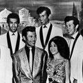 The Tielman Brothers - Promotion picture 1963 l/r: Alphonse Faverey - Reggy - Andy - Phonton - Jane - Loulou - Franky Luyten