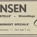 THE MIDNIGHT SPECIALS: De Scheldebode 18-10-1970
