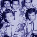 THE ROCKING HURRICANES 1960 voor vlnr: Harry de Graaf - Nico Boyd achter vlnr: George de Wilde - Huberti van Ernst - Robin Rubin