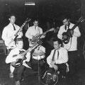 THE ROLLERS (1961) vlnr: Jacky Barkey, Ed Vermeulen, Ed v.d. Hoeven, Cees Sanders, Ed Sauer en Jimmy v.d. Hoeven.
