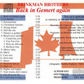 THE BRINKMAN BROTHERS (CD Back in Gemert Again 1995)