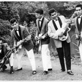 BOY & his ROLLIN' KIDS (fotosessie Helmond 1962) - vlnr: Henry Peter, Bert Jansen, Bart Carels, Boy Jansen en Vico Gagliardi.