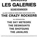 Aankondiging voor het optreden van The Crazy Rockers in Les Galeries (april 1964)