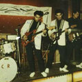 The Crazy Rockers in de Jolly Bar, Hanau in december 1963 vlnr: Sidney Eddy, Woody, Harry, Pim