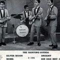 Promotiefoto uit 1962 van The Hartung Sounds, genomen tijdens een tv-optreden in Rooster (AVRO) op 23 mei 1962. Verscheen ook in het blad Muziek Expres