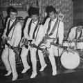 THE FENDER ROLLERS 1962 vlnr: Ad Roos - Victor Berg - Rudy van Dünge Bille - Leo Kappé