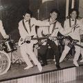 THE EASTERN ACES (Jolly Club, Hanau 1962) vlnr: Loekie Diks, Frans van den Brand Horninge, Harry Bredow, Joop Ketting Olivier en Tony Lentze.