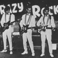 The Crazy Rockers in de Sheherazade, Scheveningen  vlnr: Sidney Rampersad, Harry Berg, Woody Brunings, Eddy Chatelin, Pim Veeren