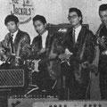 THE JACKALS vlnr: Johnny Mouthaan - Rudy Baro - Peter Morbeck - Bert Witterland (foto stond in het blad Muziek Parade van juni 1967)