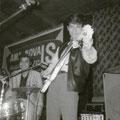 Sidney Rampersadt en Eddy Chatelin in Beat House, Tivoli, Aalborg, Denemarken (mei 1965)