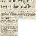 Krantenknipsel uit Het Vrije Volk 31-7-1961